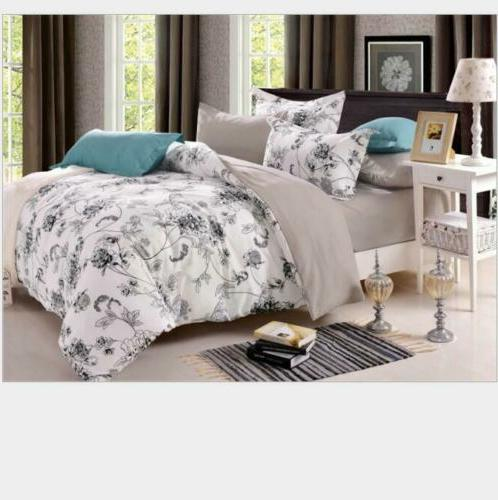 Bedsure Duvet Cover Set Printed Soft 3pcs Comforter Twin Que