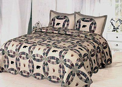 black bear king quilt set