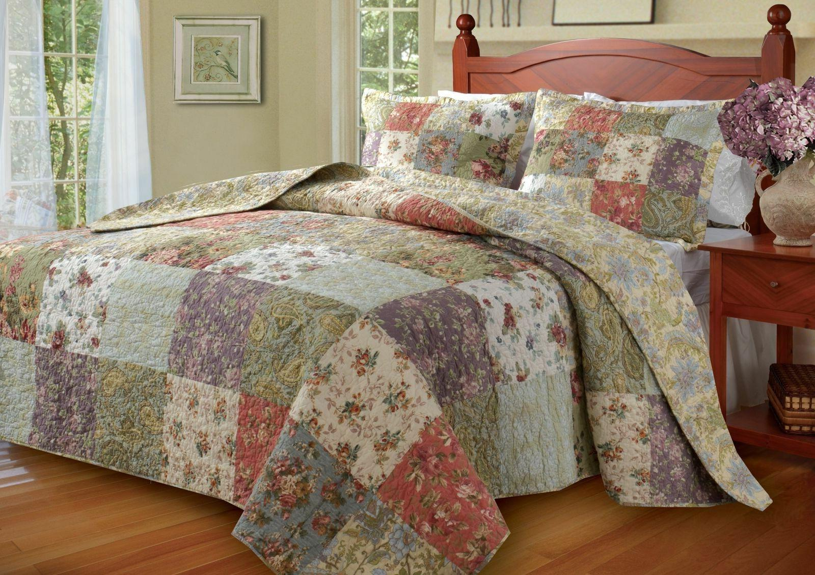 Greenland Home Blooming King Quilt