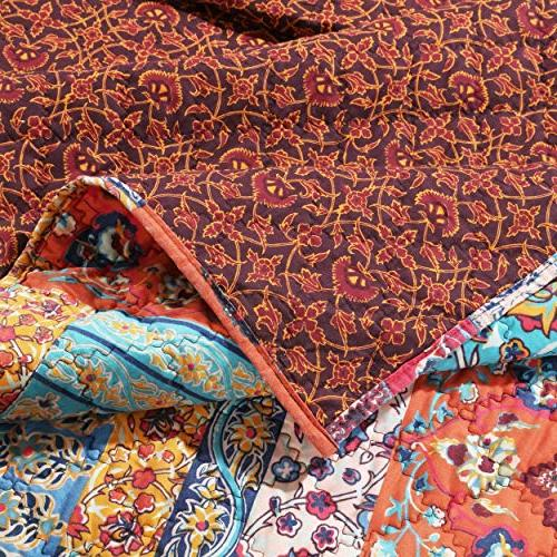 Finely Boho Chic Comforter Hippie Lightweight Piece Full/Queen - Includes Bed Sheet Straps
