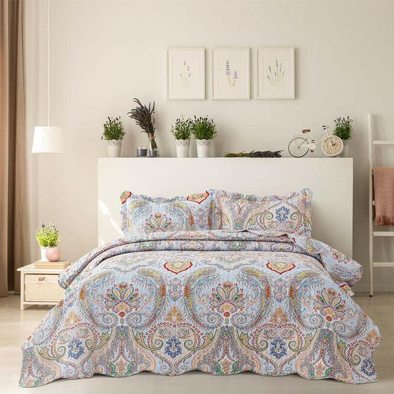 Bohemian Quilt Coverlet Bedspread Twin Queen