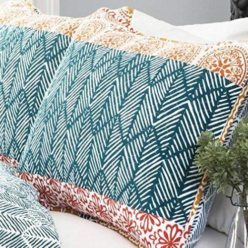 3 Bohemian Set Floral Pattern Design Kids Bedding Bedroom, Polyester