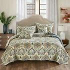 bohemian spades quilted coverlet bedspread set bright