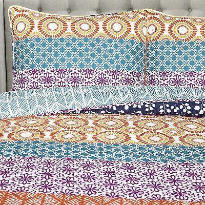Bohemian Quilt 3 Piece