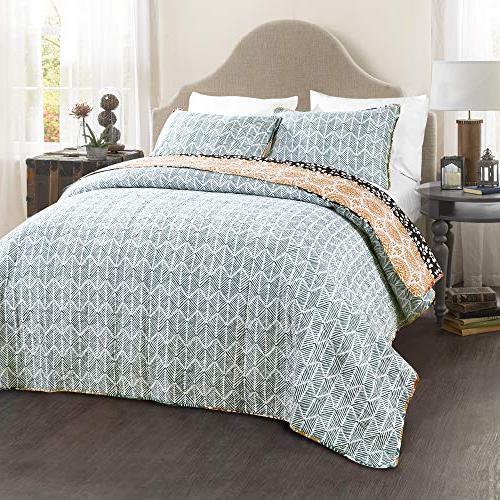 Lush Striped Quilt Piece Colorful Design Set