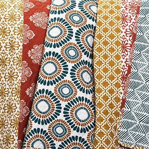 Lush Bohemian Quilt 3 Colorful Set