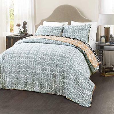 Bohemian Quilt 3 Piece Bedding