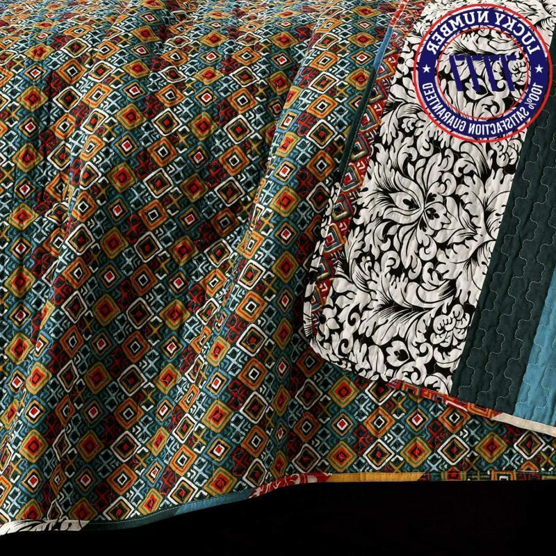 Lush Decor Boho Quilt Reversible 3 Bohemian Design Full