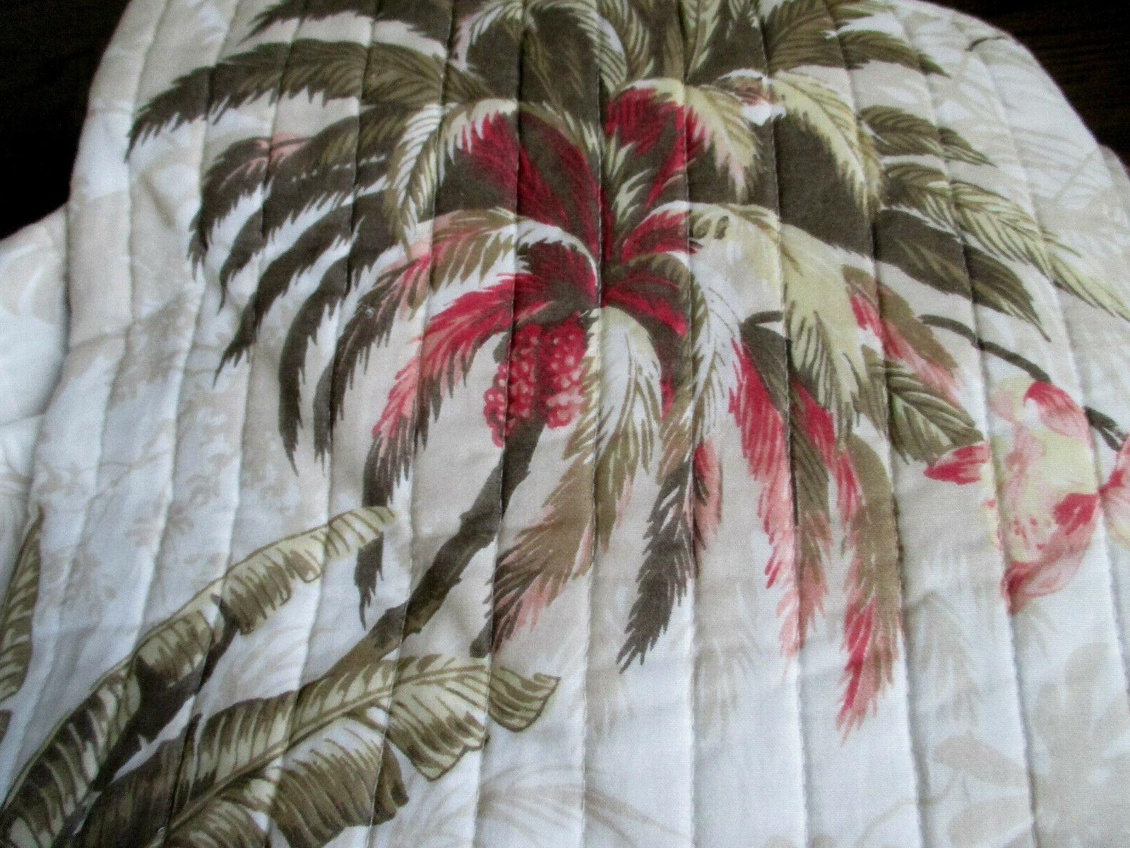 TOMMY Cove Coral, Green Floral / Quilt SET