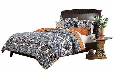 Brand New Greenland Home 3 Piece Medina Quilt Set, King, Saf