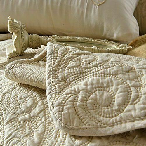 Floral Comforter Queen Size Bed Quilt Set