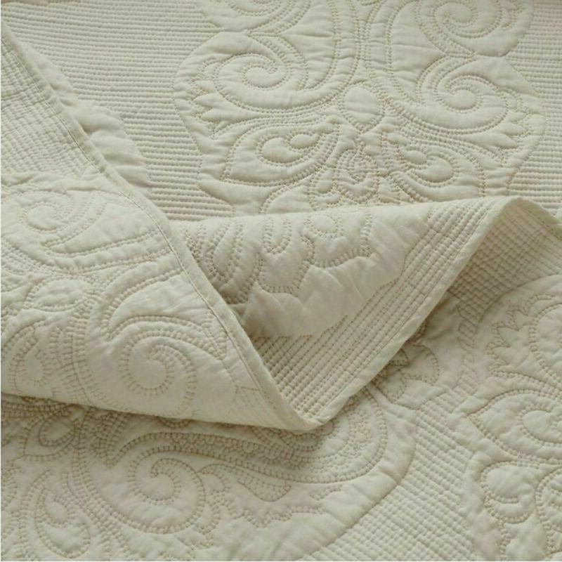 Brandream White Floral Comforter Size Bed Quilt