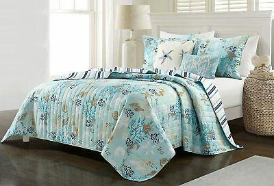breezy blue quilt set