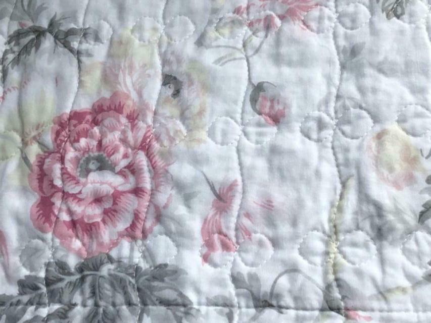 LAURA Pink & Grey Cotton Full/Queen 3pc