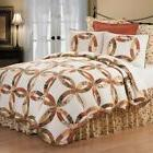 C and F Home White Aurelia Wedding Ring King Quilt Set