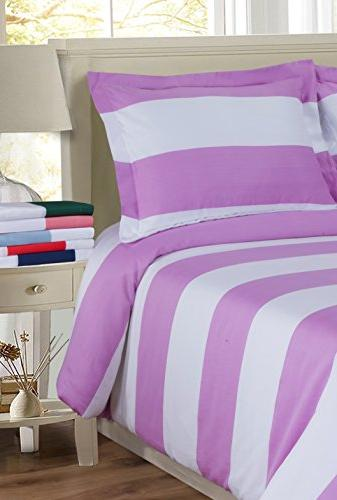 Cabana Stripe Wrinkle Resistant Cotton Blend Thread Count