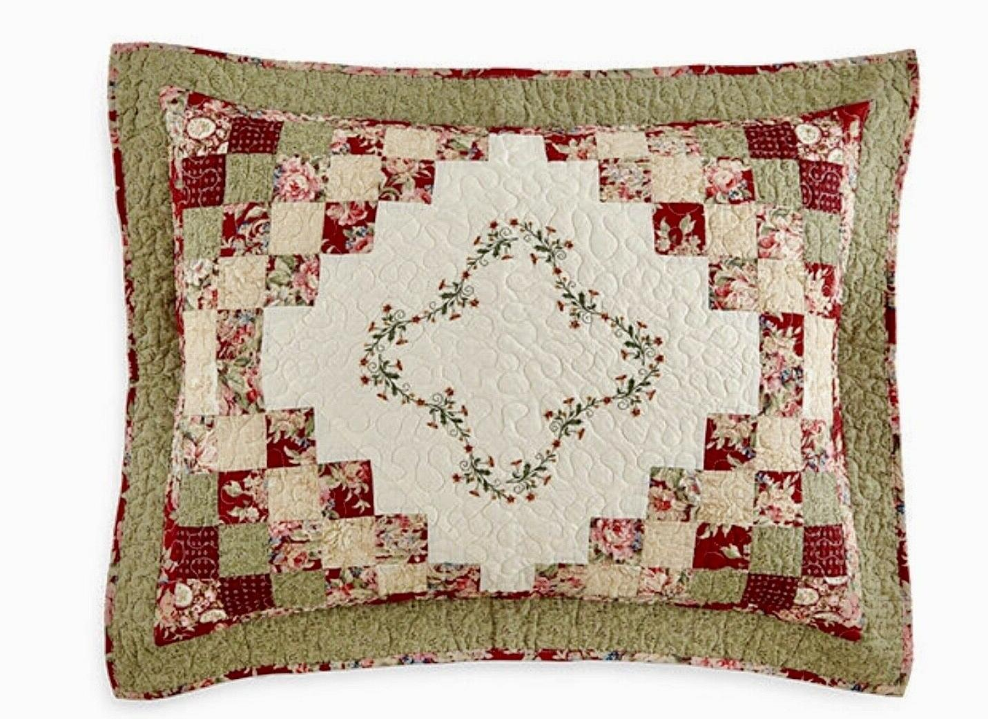 Home Expressions Cassandra King Shams Pillows HTF NEW
