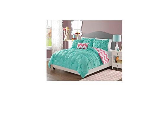 chelsea reversible comforter set turquoise