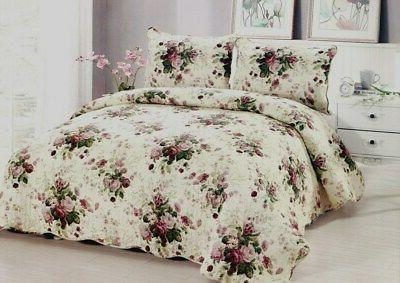 chinese rose quilt set king queen 3