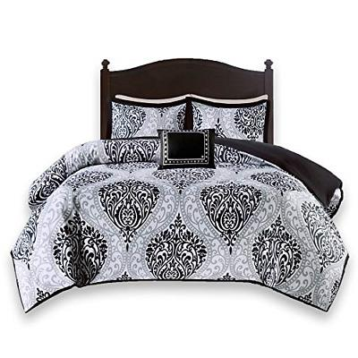 Comfort Spaces - Coco Comforter Set - 4 Piece - Black and Wh