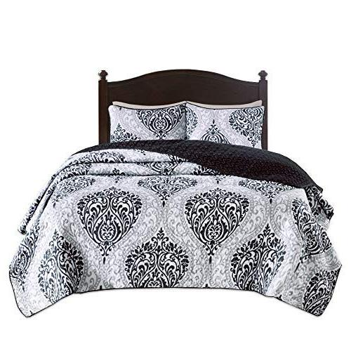 Comfort - 3 Piece and White - Damask - Size, Includes 2 Shams