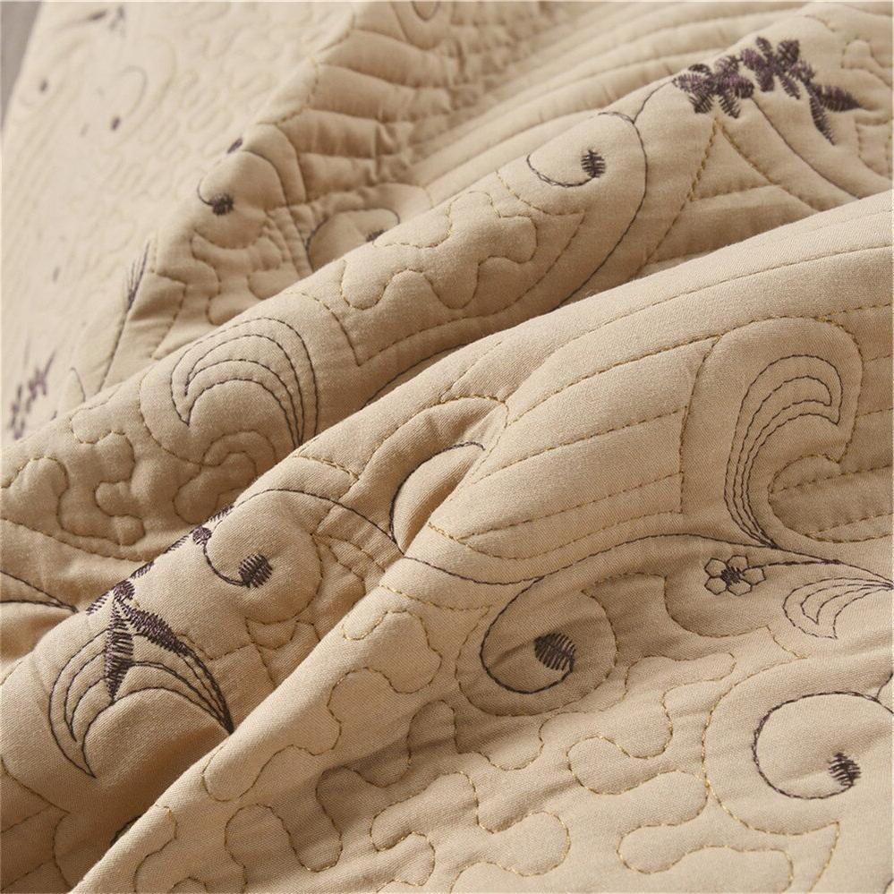 Thin Bed Cover Coverlet <font><b>Set</b></font> Pillow Shams 3Pcs D25