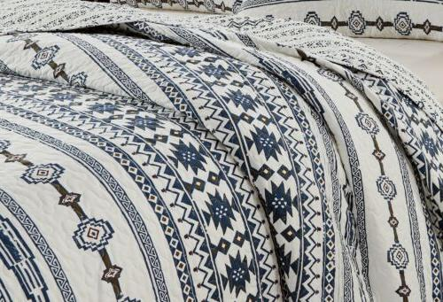Colby 3-Piece Western Tribal Microfiber Quilt