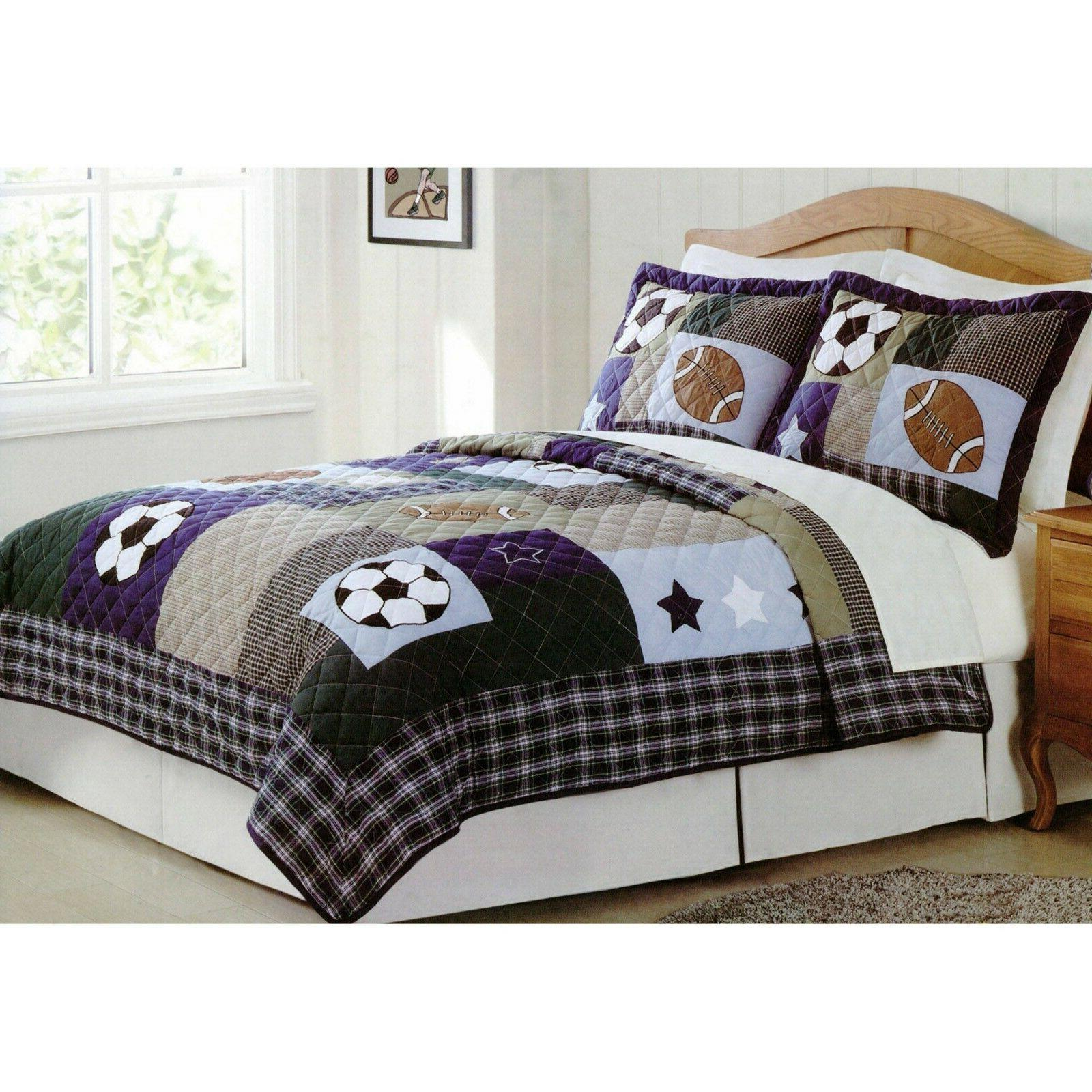 Pem America 2-Piece Sport Collage Quilt Set, Twin
