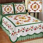 Colorful Fall Sunflower Bedding Set Quilt Shams King Queen F