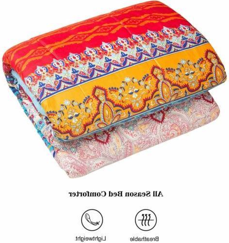 Comforter luxurious Goose Down Alternative Quilt Queen 3Pcs