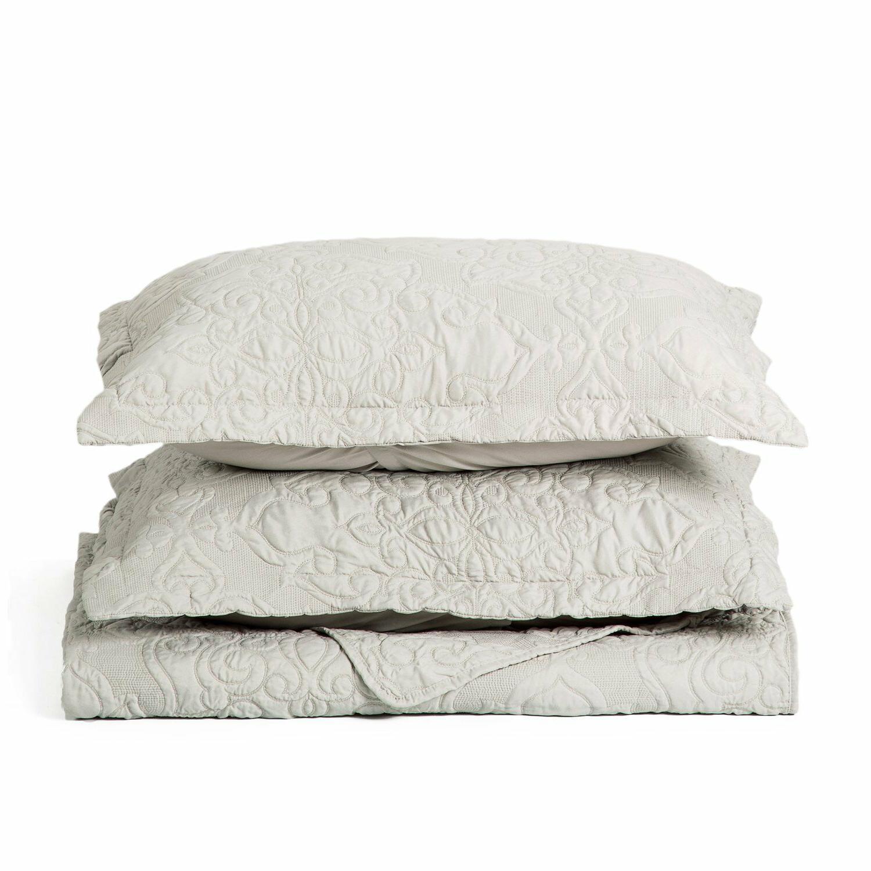 Bedsure Comfy Set Quilt Embroidered Full/Queen Set