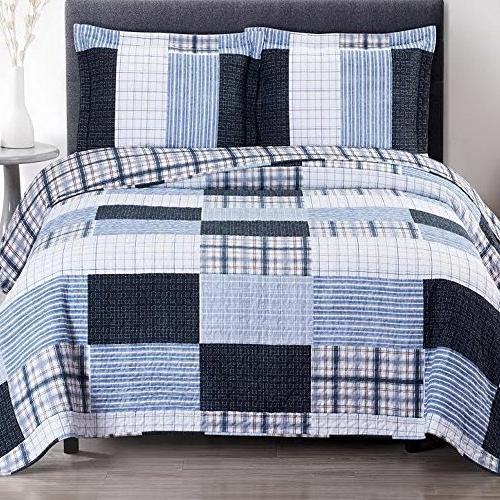 cottage coastal bedspread quilt shams