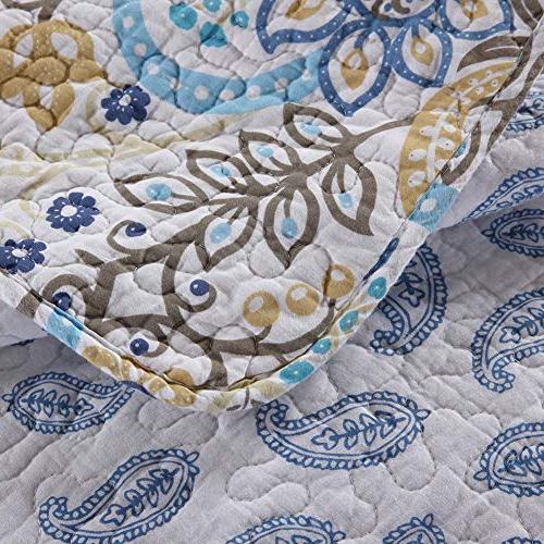 NEWLAKE Cotton Quilt Sets-Reversible Set, Queen Size