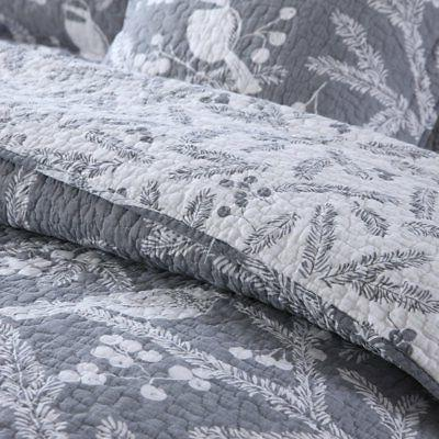 NEWLAKE Cotton Sets-Reversible Coverlet Set, Birds on