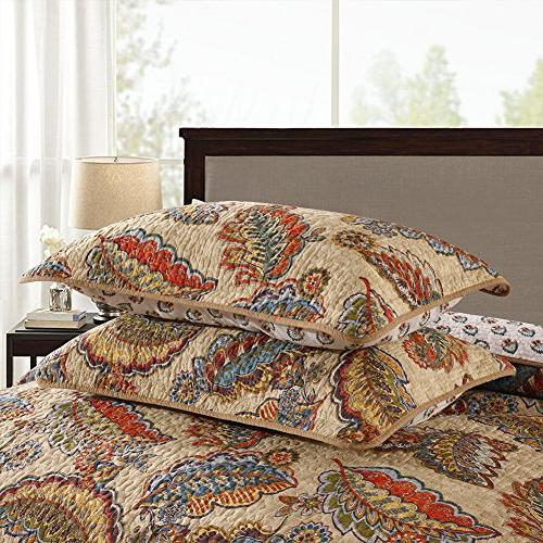 NEWLAKE Tropical Style Pattern, Queen Size