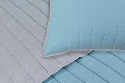 Superior 2-Pieces Twin, Vertical Striped Quilt