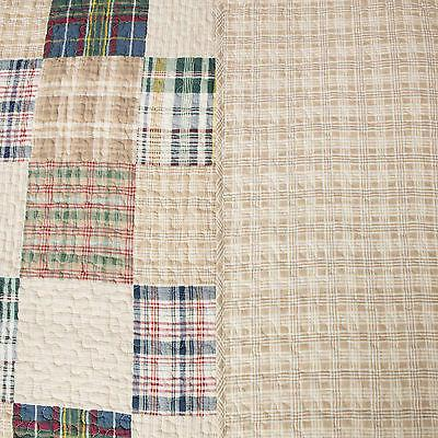 COUNTRY CABIN SET BLUE PREPPY MADRAS REVERSIBLE
