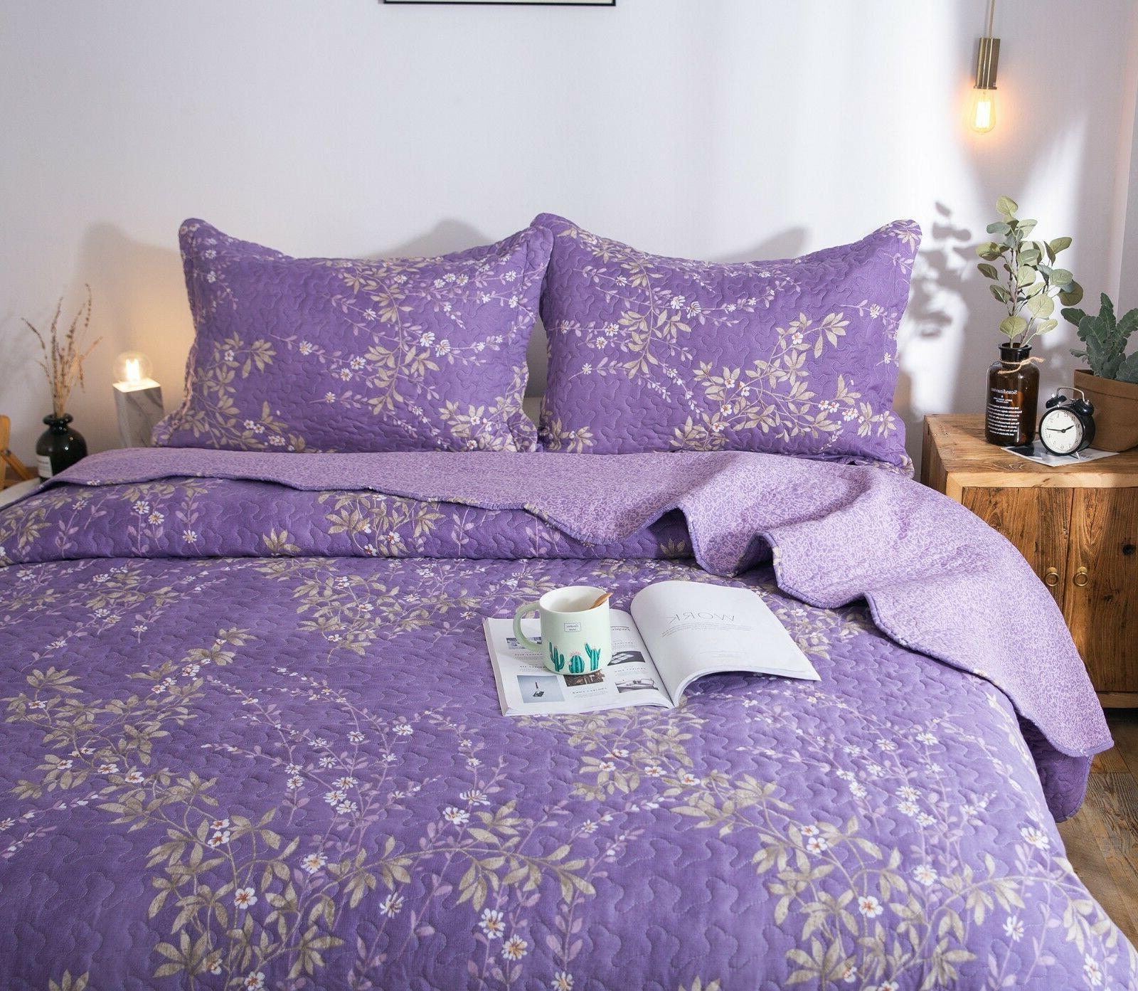 Kasentex Pre-Washed Quilt Microfiber. Purple Floral