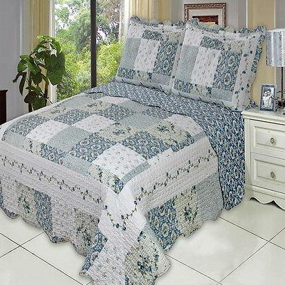 COUNTRY Cottage BLUE PATCHWORK Lightweight Set