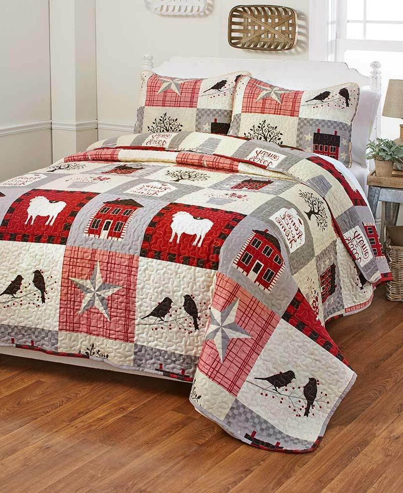 country farmhouse home sweet quilt shams king