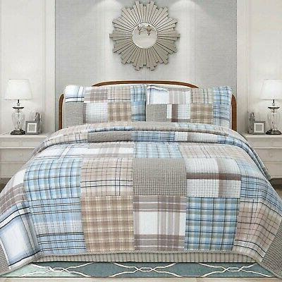 cozy line hank patchwork 3 piece reversible