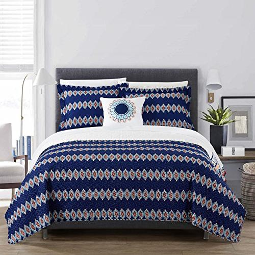 Chic Home Cypress Quilt Cover Set,