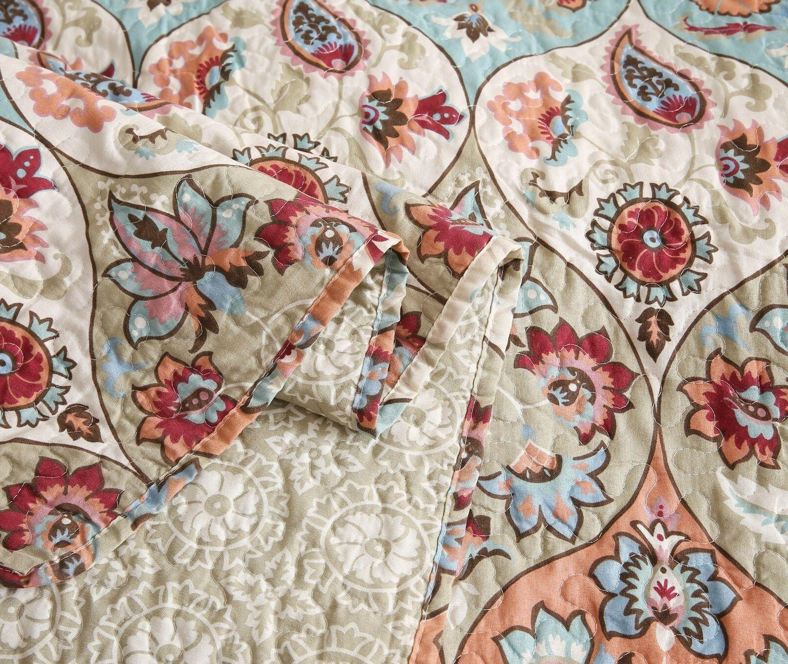 DaDa Vibrant Garden Paisley Coverlet Bedspread