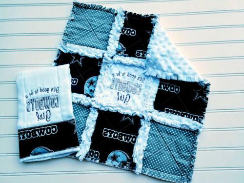 dallas cowboys baby gift set mini rag