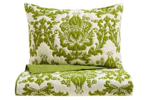 damask quilt set