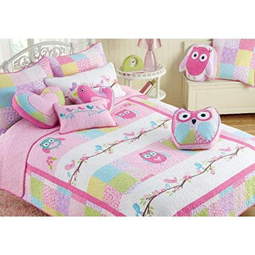 daybed girls pink queen owl