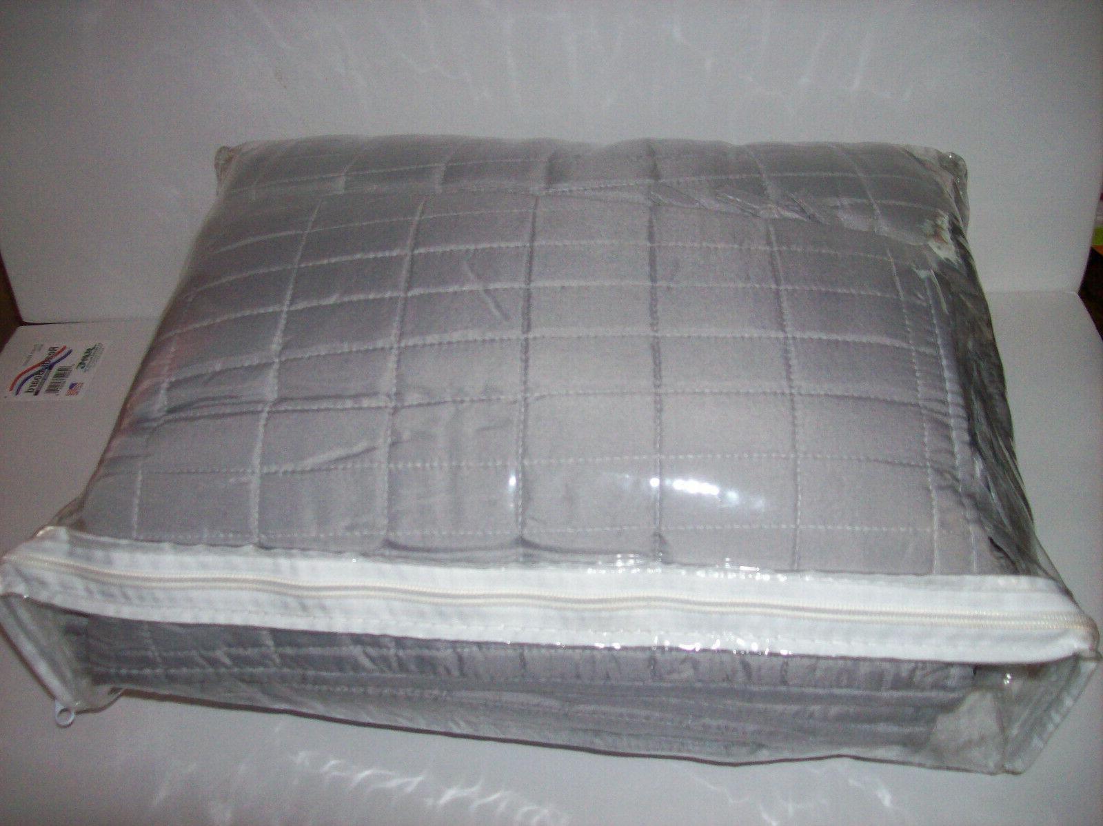 Comfort Spaces Set Stitched Quilt Pattern - 5 - Grey -