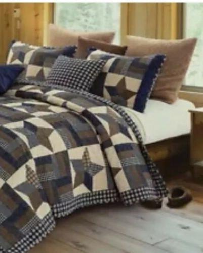 debra valencia woodland star blue king quilt