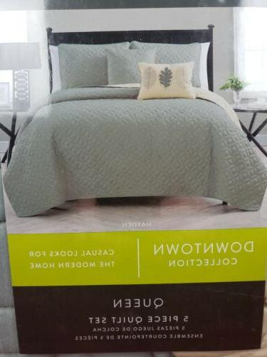 downtown collection queen quilt harmony 5 pc