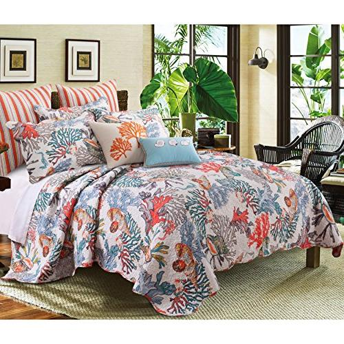 dreamy atlantis themed reversible quilt
